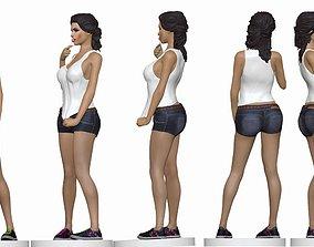 girll 3D print model