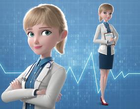 3D Cartoon Doctor Rigged