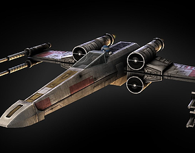 X-Wing Fighter 3D model rigged