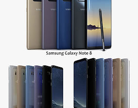 Samsung Galaxy S8 S8plus and Note 8 Collection 3D asset
