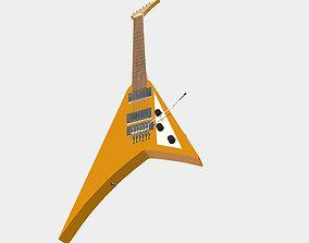 3D asset realtime Flying V Electric Guitar