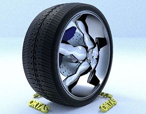 3D model ORTAS CAR RIM 63 GAME READY RIM TIRE AND DISC