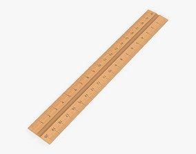 3D Ruler wooden 01
