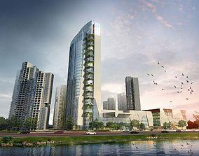 3D Skyscraper Business Center modular