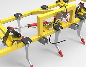 3D model 3 Row Sub Soiler Chisel Plow