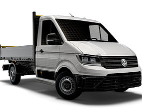 VW Crafter Single Cab Tipper 2021 3D