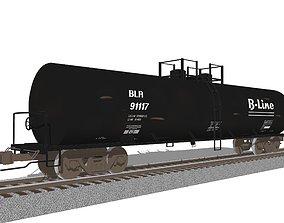 3D Railroad Train Car - Tank Car