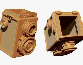 Camera Pen Holder 3D Print Model gift