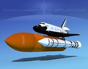 STS Shuttle Columbia Launch LP 1-4 3D model