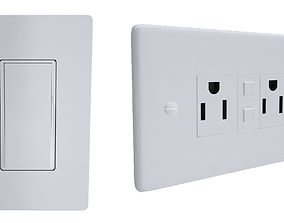 Outlet Cover And Switch 3D model