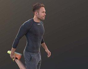 3D model Simon 10081 - Stretching Athletic Man