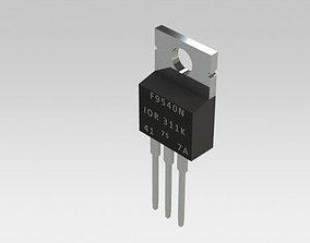 3D model MOSFET IRF9540