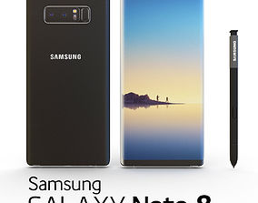 3D model SAMSUNG NOTE 8 Midnight Black