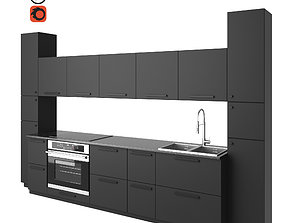 3D model Modern kitchen KUNGSBACKA RECYCLED