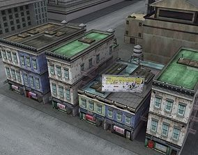 Downtown Commercial City Block 3D model low-poly