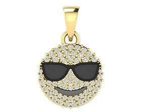 Cool Emoji Diamond Pendant 3D print model