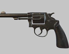 Revolver High Poly PBR 3D model