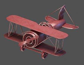 3D asset VR / AR ready toy plane