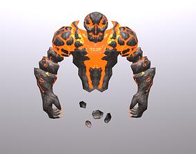 3D asset Fire Spirit Elemental