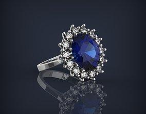 Princess Diana jewelry Ring 3D print model printable