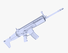 3D model FN SCAR-L Assault Rifle