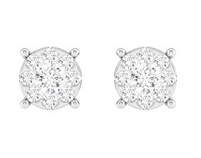 long-earrings Women Square Earrings 3dm stl render detail