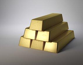 gold bar 3D money