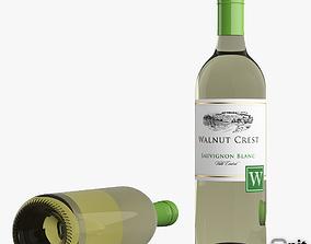 Sauvignon Blanc White Wine Bottle 3D model