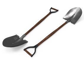 shovel retro 3D