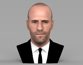 Jason Statham bust ready for full color 3D printing