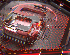 Asian Six Red - C4d Octane Animated Opener 3D