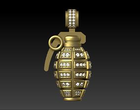 Grenade pendant 3D print model