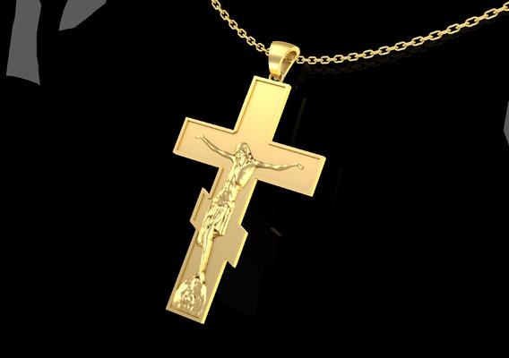 Crucifix Pendant Jewelry Gold 3D print model