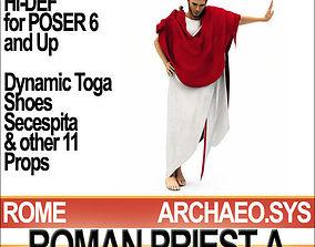 3D model Roman Priest Flamen Props Poser Daz