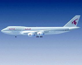 Qatar Airways Boeing 747 3D
