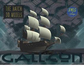 Galleon model pirate