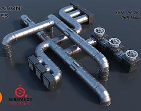 Modular Ventilation Pipes PBR 3D model