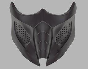 Smoke mask for face from Mortal Kombat 9 3D print model 1