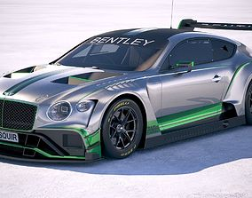 race 3D Bentley Continental GT3 Racecar 2018