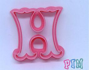 3D printable model Vintage letter H cookie