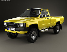 3D Toyota Hilux DX Long Body 1983
