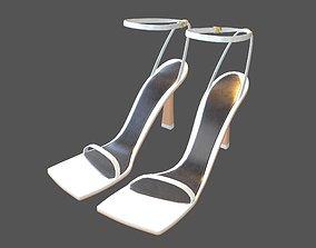 Square Toe Leather Sandals v1 005 3D asset