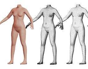 3D Character 30 High and Low-poly - Body female
