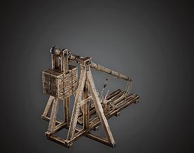 Trebuchet - MVL - PBR Game Ready 3D model