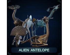 3D asset Alien Antelope