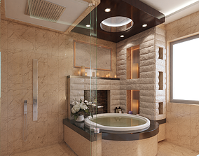 interior house 3D Bathroom