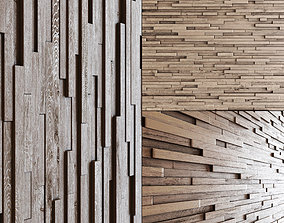 Wall wood long rail n1 3D