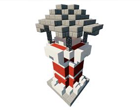 3D asset game-ready Lighthouse Minecraft