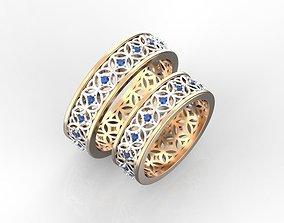 3D print model Unique wedding rings
