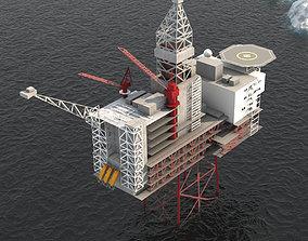 Ringhorne Offshore Oil platform 3D model VR / AR ready